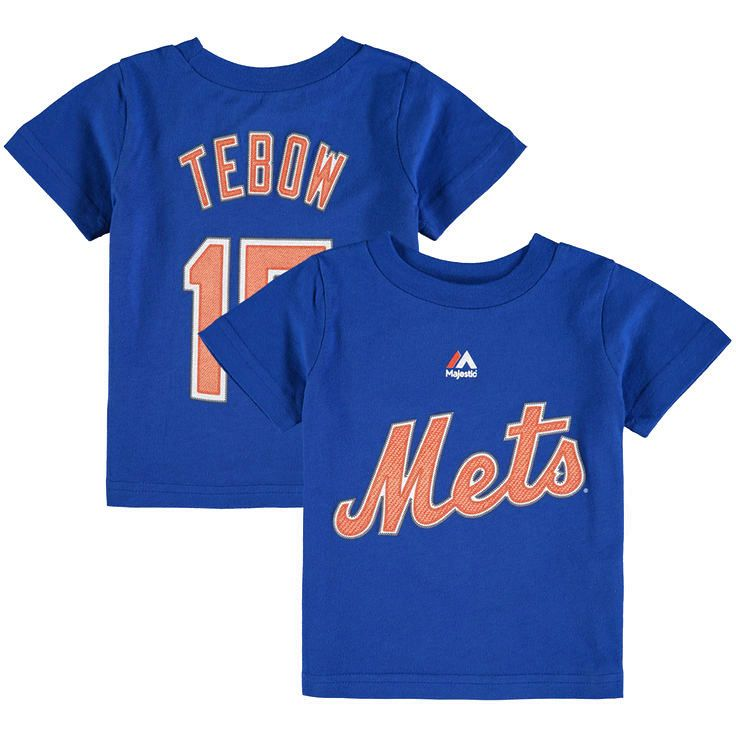 Tim Tebow New York Mets Majestic Infant Player Name & Number T-Shirt - Royal - $12.79