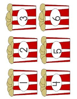 A great file folder game go along with a circus theme or for national peanut day. Children will count out the amount of peanuts to match the number on the peanut box. Included is 1-10