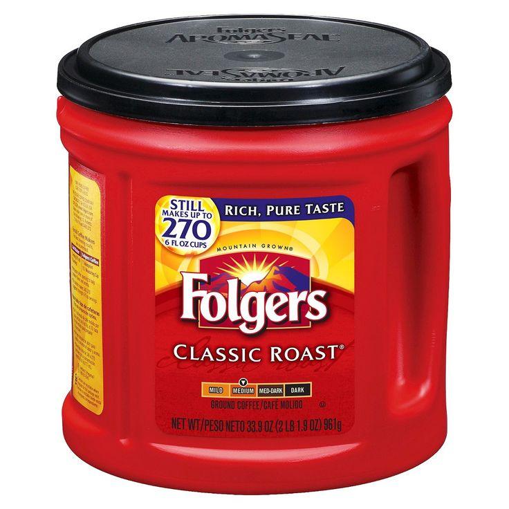 Folgers classic medium roast ground coffee 305oz