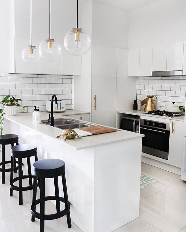Have you checked out my blog post today? Today I finally reveal my mini kitchen makeover! Loving my @clickonfurniture stools and matte black @meiraustralia tap - they've added just the right amount of contrast to the space. Tap pic for sources or head straight to the blog for all of the direct weblinks: www.adoremagazine.com/blog