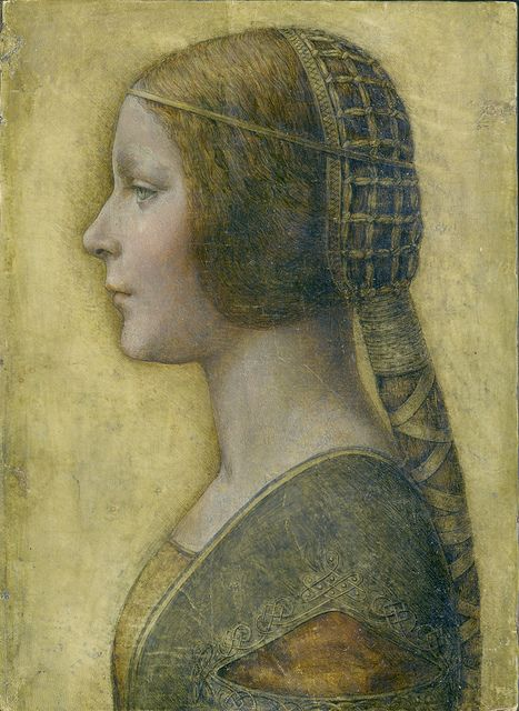 So beautiful!!  La Bella Principessa. Recently discovered to have been painted by Leonardo Da Vinci.