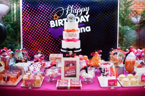 Girly Rock Star 8th Birthday Party