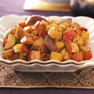 Roasted Vegetable Medley Recipe from Taste of Home -- shared by Shirley Beauregard of Grand Junction, Colorado   #Thanksgiving