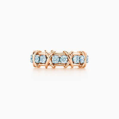 Anillo Sixteen Stone de Tiffany & Co. Schlumberger en oro con diamantes.