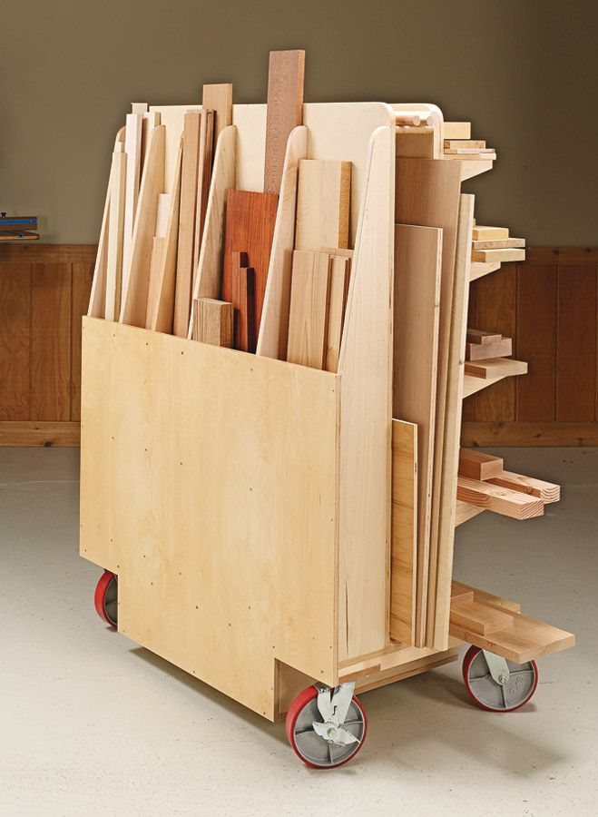 Sturdy Lumber Cart | Woodsmith Plans – Shop space is always at a premium. But th…