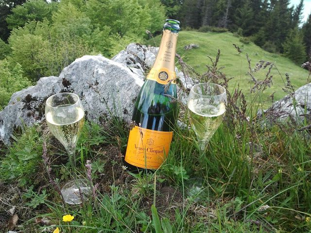 champagne in nature