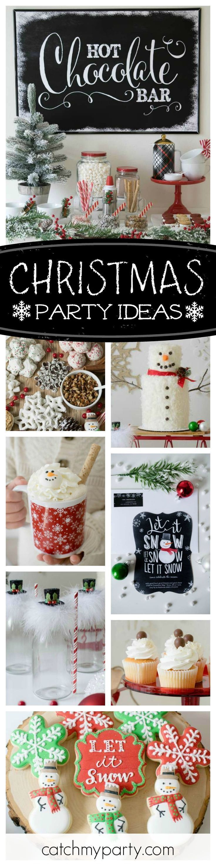 Check out this awesome Christmas party! The Snowman Christmas cake is amazing!! See more party ideas and share yours at CatchMyParty.com