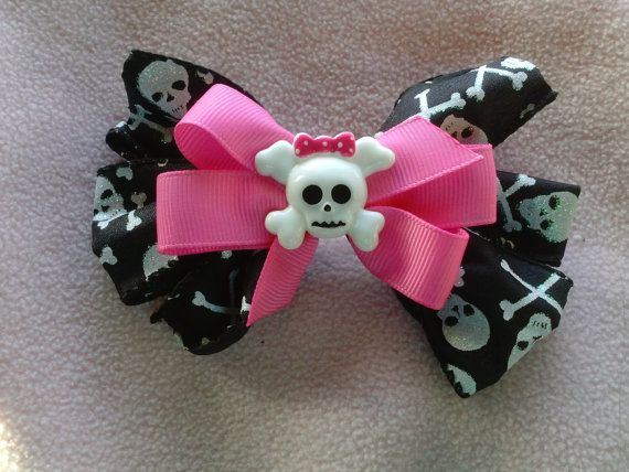 Monster High style punk princess bow from geekhatchery.etsy.com