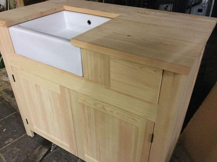 Solid Pine Belfast Sink Kitchen Unit - INCLUDES SINK - ONLY £10 DEPOST     eBay