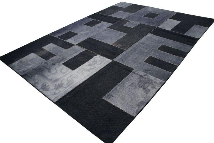 Patchwork Kelim Black & Grey
