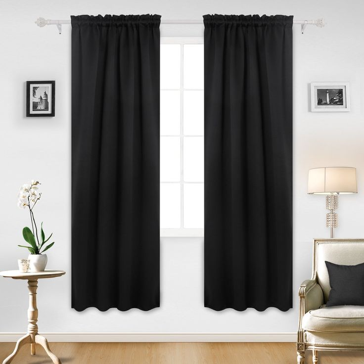 Deconovo Rod Pocket Curtains Blackout Room Darkening Curtains for Bedroom