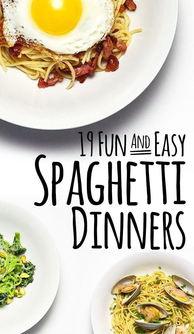 19 Easy Spaghetti Dinners