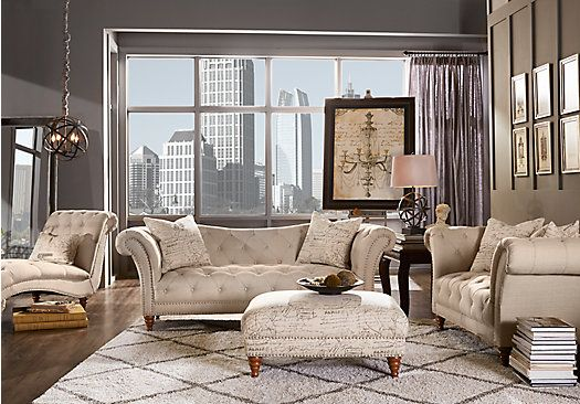 shop for a alessandria 3 pc living room at rooms to go 20801 | bb1fbdbf76e35ae47520d589cef69e51 living room pictures tufted sofa