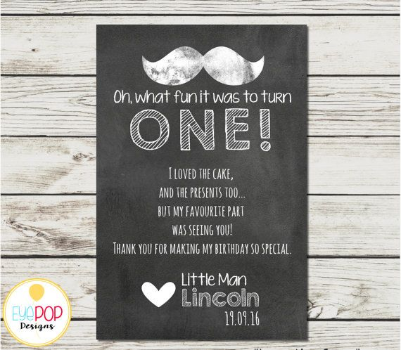 LITTLE MAN CHALKBOARD THANK YOU CARD  Great matching card for an adorable LITTLE…