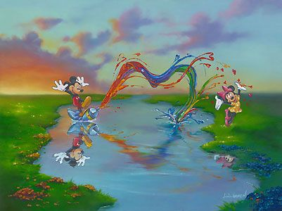Mickey Mouse - A Message for Minnie - Jim Warren - World-Wide-Art.com - $650.00