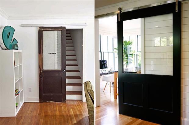 10 ideas para sumar una puerta estilo granero granero for Puertas para separar ambientes