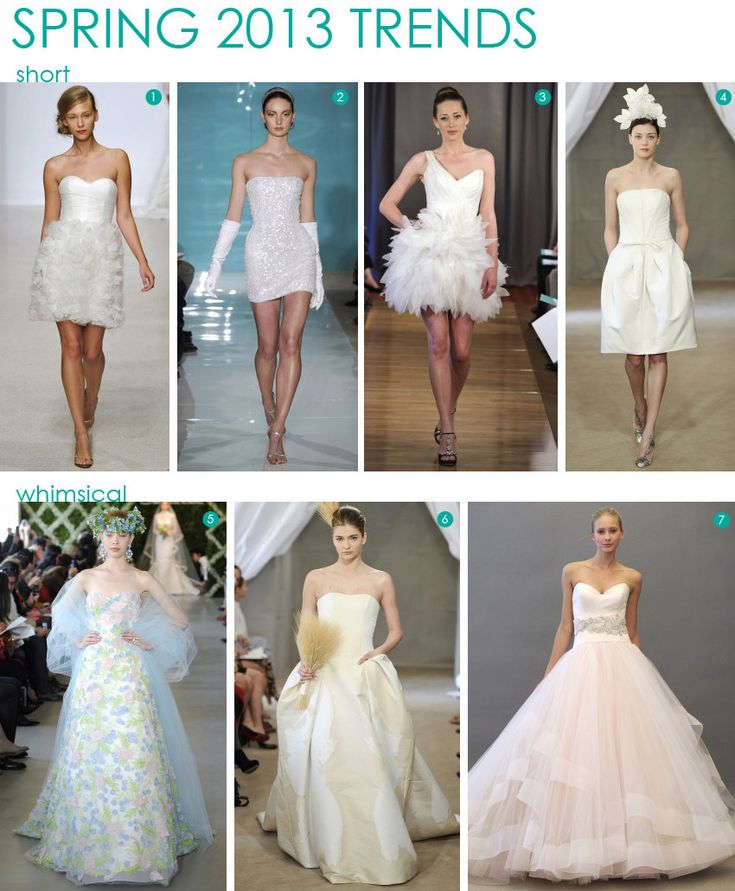 @Paige Marro - bottom right! Fashion: Spring 2013 Bridal Trends  #wedding #design #dresses
