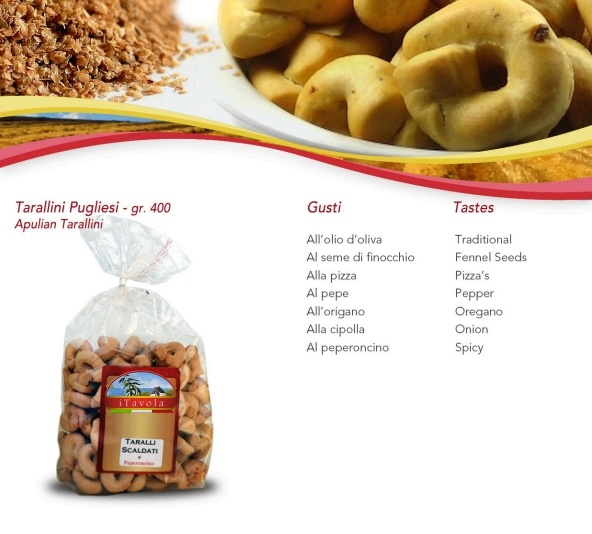 Taralli: traditional, Fennel Seeds, Pizza's, Pepper, Oregano, Onion, Spicy...the old baker tradition gives us the tastes of the past...