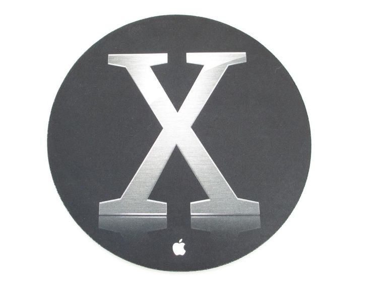 Mac OS X Black and Chrome Round Mouse Pad, Apple Products, Mouse Pads #Apple