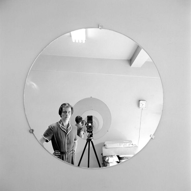 vivien maier photographer self portrait black white mirror