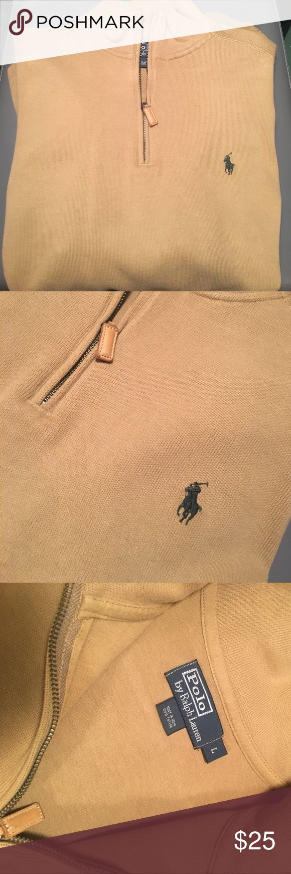 Polo Pullover Tan pullover jacket; worn three times Polo by Ralph Lauren Jackets & Coats Lightweight & Shirt Jackets