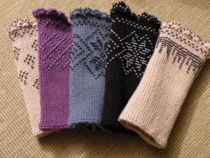 Pulswärmer Mit Perlen Hand And Wrist Warmers Knitting Crochet