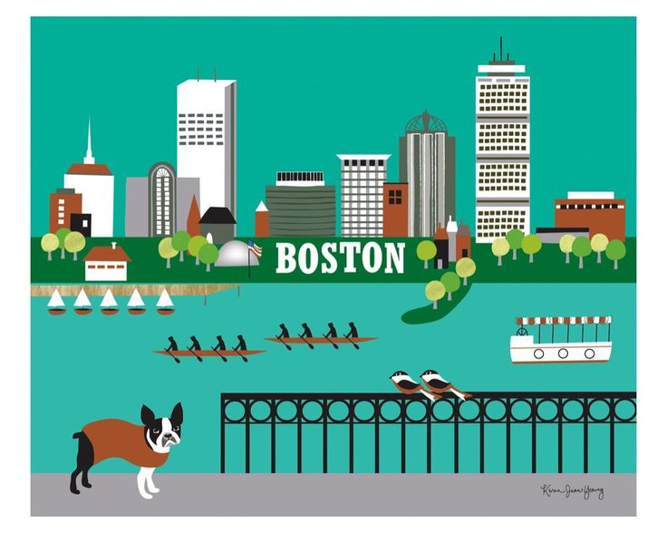 Boston wall art is available in an array of finishes, materials, and sizes, this retro inspired wall art will make Boston feel close to your heart with its bright color palette and unique design. You