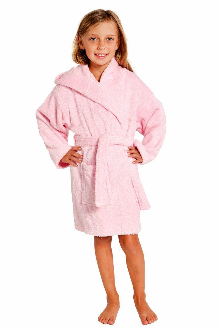 Kids Bathrobes :: Terry Kids Bathrobes :: Pink Hooded Terry Kid's Bathrobe - Wholesale bathrobes, Spa robes, Kids robes, Cotton robes, Spa S...