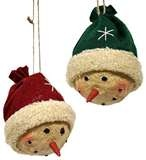 Primitive Snowman Head with Hat Ornament: Snowman Ornaments, Christmas Crafts, Snowman Head, Color Hats, Christmas Ornaments, Christmas Trees, Hats Ornaments, Primitives Snowman, Christmas Gifts