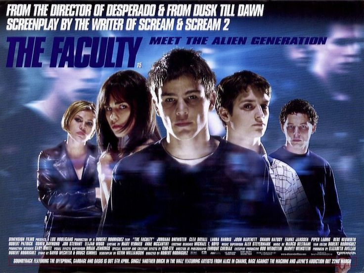 #TheFaculty [] [1998] [] http://www.imdb.com/title/tt0133751/?ref_=nv_sr_1 [] directed by #RobertRodriguez http://en.wikipedia.org/wiki/Robert_Rodriguez [] SCIFITYPE ▶ Here n' Now Utopie [] feat #INVENTIONS ▶ #design #drugs in transparent pencils [] feat #SPECIES ▶ body snatching, water addicted #tentacle #beings