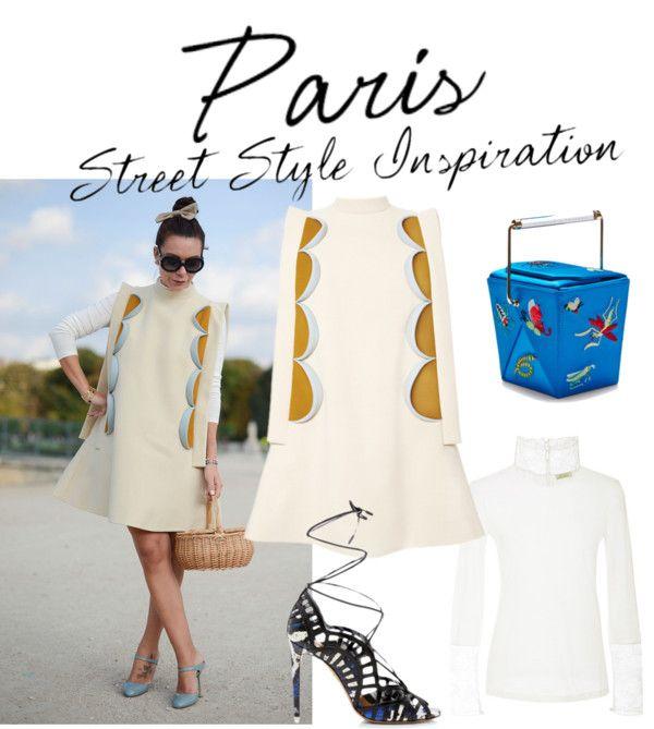 """Paris Street Style Inspiration: The Delpozo Dress"" by modaoperandi ❤ liked on Polyvore"