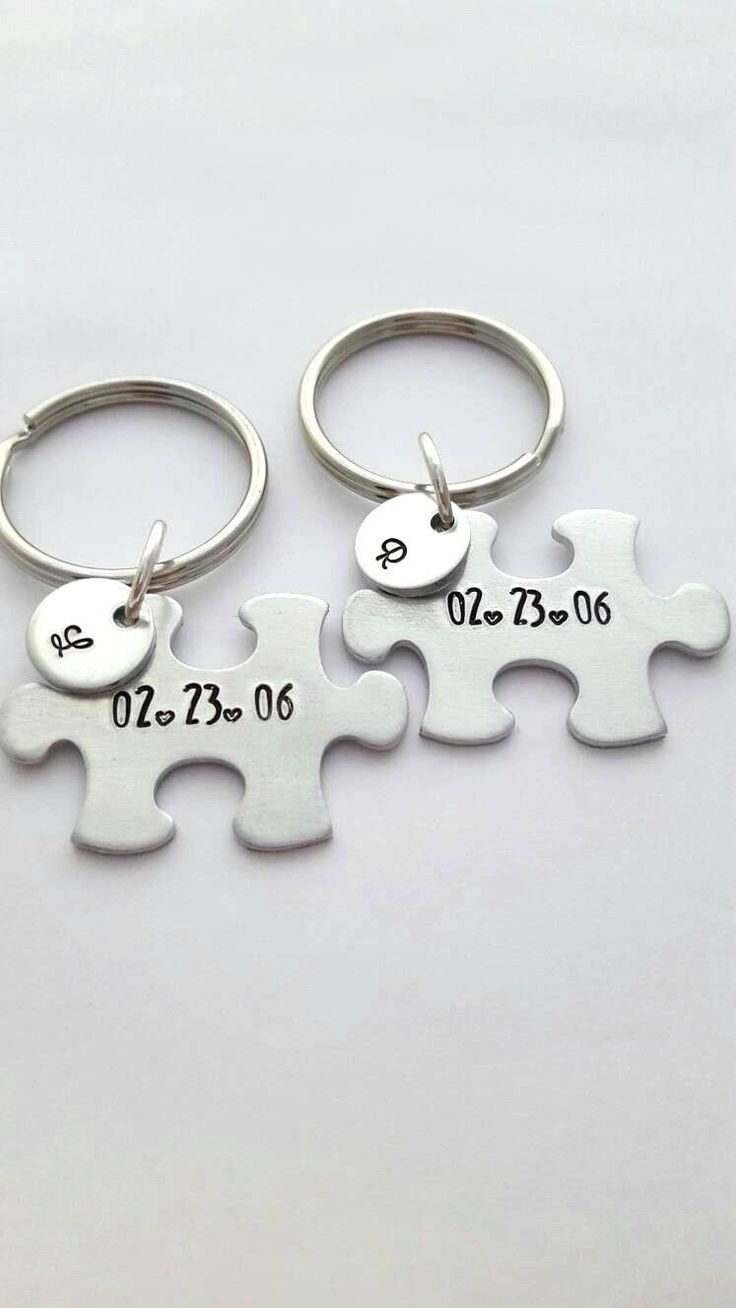 Couple Keychains, Boyfriend Gift, Custom Puzzle Pieces, Customized Couple Keychains, Anniversary Gift for Boyfriend, Puzzle Keychains