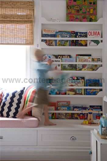 playroom bookshelves