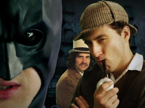 Batman vs Sherlock Holmes. Epic Rap Battles of History Season 2: http://www.youtube.com/user/ERB