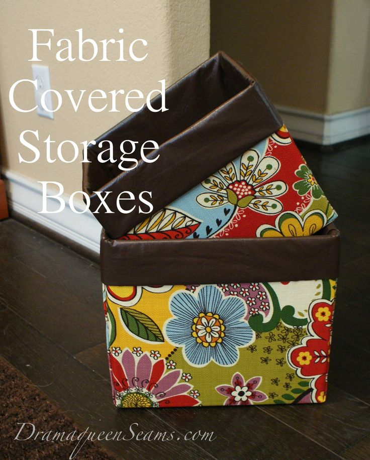 I finally got tired of not having a neat and tidy craft room. So these Fabric Covered StorageBoxes are the prefect solution to my problem. Even though I still end up having so much extra craftin...