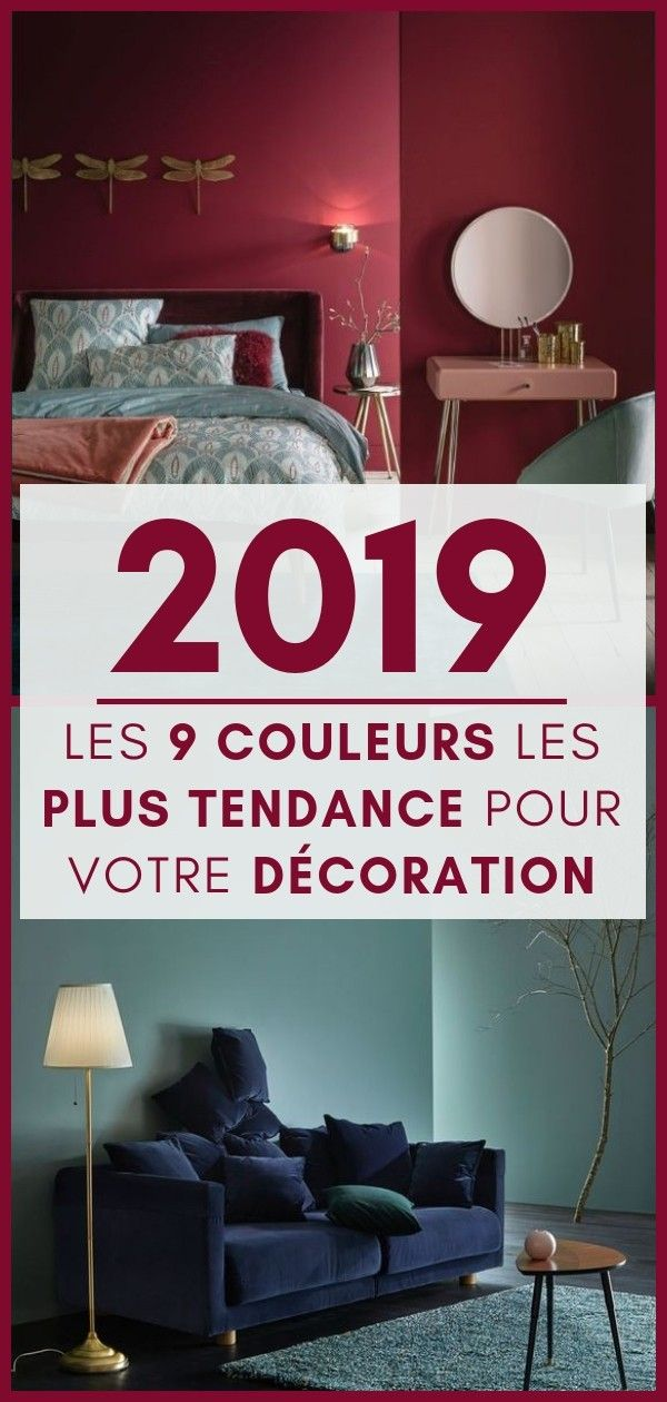 les 9 couleurs tendance pour 2019 comment les adopter. Black Bedroom Furniture Sets. Home Design Ideas