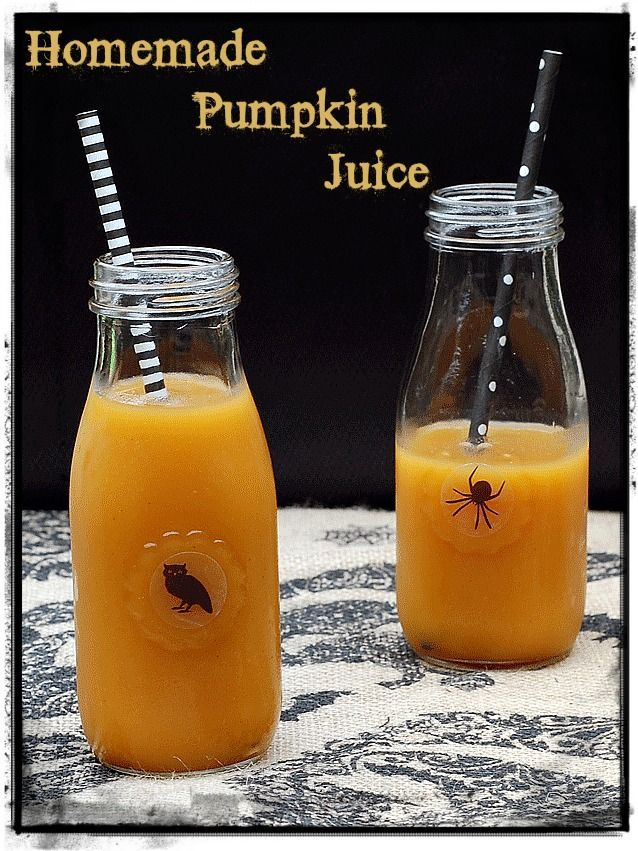 Halloween Pumpkin Juice from The Ghoulish Gourmet is sugar free and healthy…