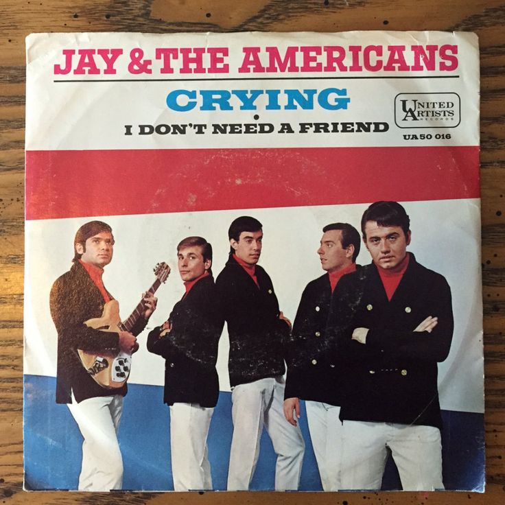 Jay & the Americans - Crying/I Don't Need a Friend / United Artists UA50 016 / Sixties Pop Music on Vinyl / 45rpm Single / 1966