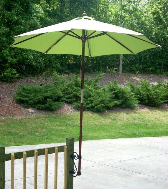 Patio Umbrella Bracket: Umbrella Mount Deck Rail Or Fence Hanger By MuddHook On