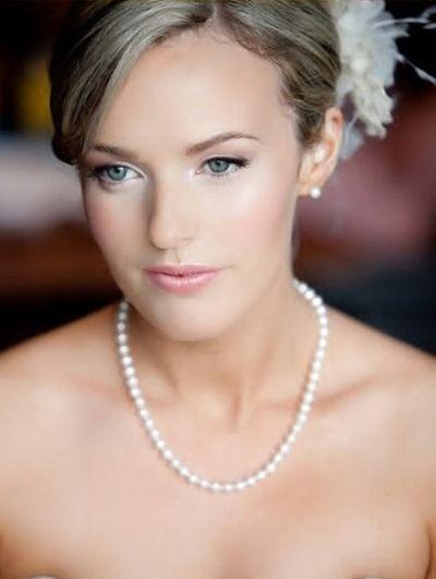 Wedding makeup, fair skin
