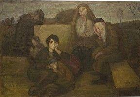Wilhelm Wachtel, After the Pogrom, 1916, Oil on canvas Jüdisches Museum Frankfurt