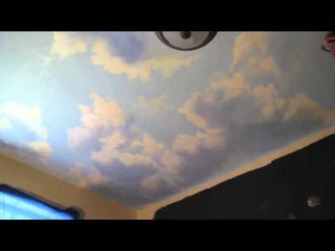 17 best ideas about painting clouds on pinterest for Ceiling cloud mural