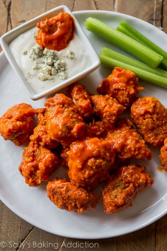 Buffalo Poppers | Easy, crunchy, sticky, saucy buffalo chicken poppers that are coated and baked