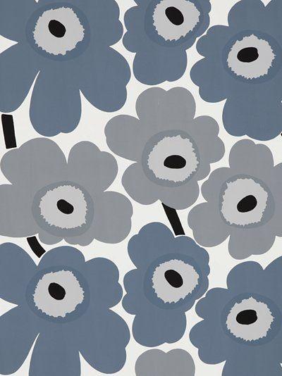 Marimekko Unikko Wallpaper, Grey, 13070