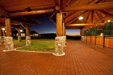 WAIKII EQUESTRIAN STABLE. Horse stalls by Lucas Equine. Who wouldn't love this Hawaiian barn?