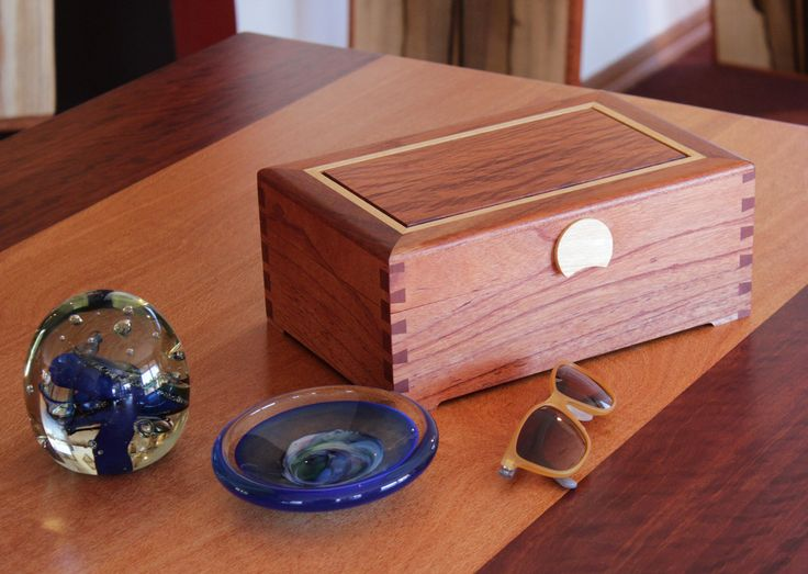Buy Dovetail 3 Layer Jewellery Box with Sheoak Lid | Australian Woodwork