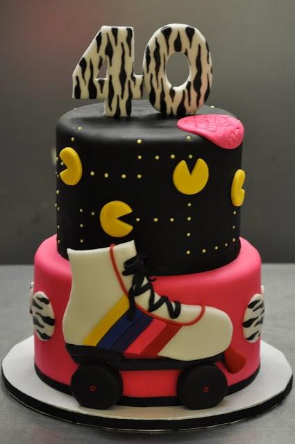 Rollerskate/pac man cake