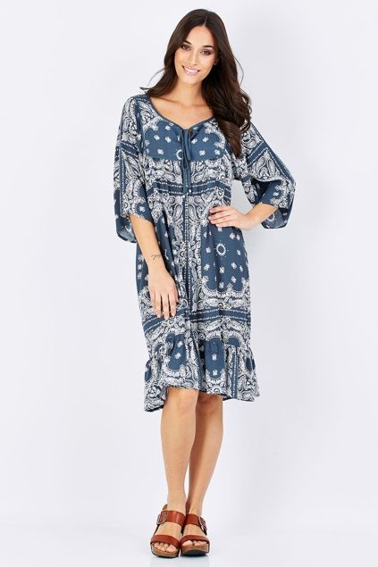 Jump Paisley Rose Jenny Dress - Womens Knee Length Dresses - Birdsnest Buy Online