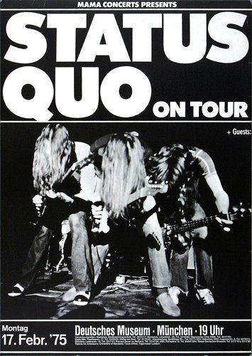Status Quo - On The Level 1975 - Poster Plakat Konzertposter
