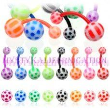 BioFlex Navel Rings with UV Soccer Balls  $5